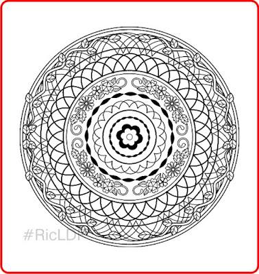 free mandala coloring page ricldp