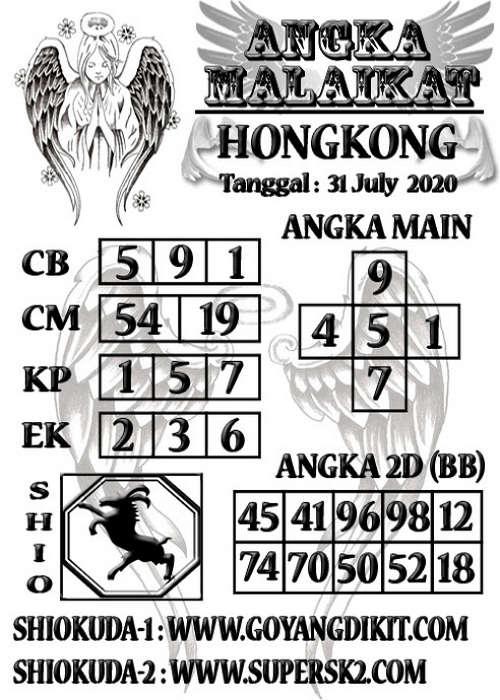Kode syair Hongkong Jumat 31 Juli 2020 264