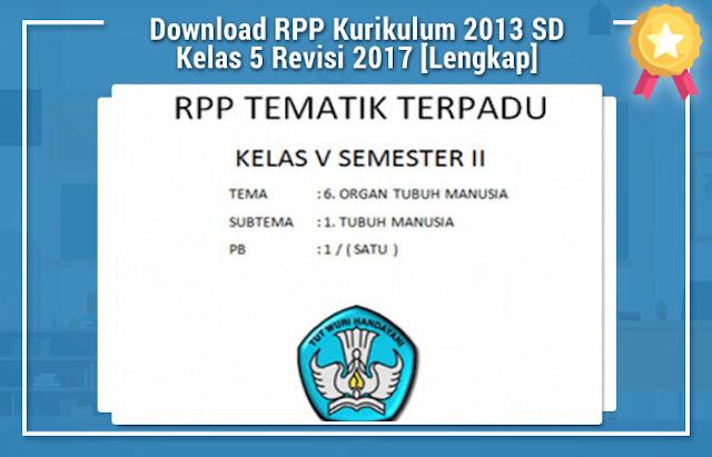 Download RPP Kurikulum 2013 SD Kelas 5 Revisi 2017 [Lengkap]