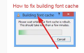 disable building font cache in vlc