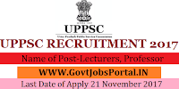 Uttar Predesh Public Services Commission Recruitment 2017 – 799 Lecturers, Professor