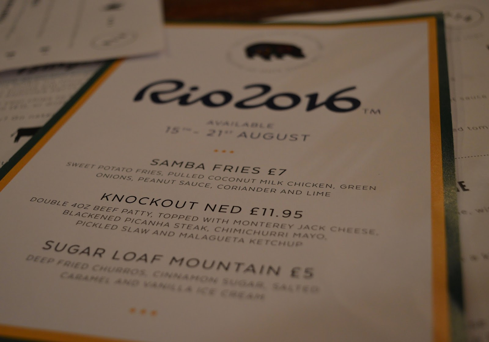 The Fat Hippo Underground with Kids | Simply the Best Burgers in Newcastle - Rio Olympics Menu