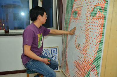 Tong Ao'nan spent almost 20 hours in three nights to finish his masterpiece