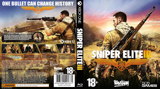Capa Sniper Elite 3 Xbox One