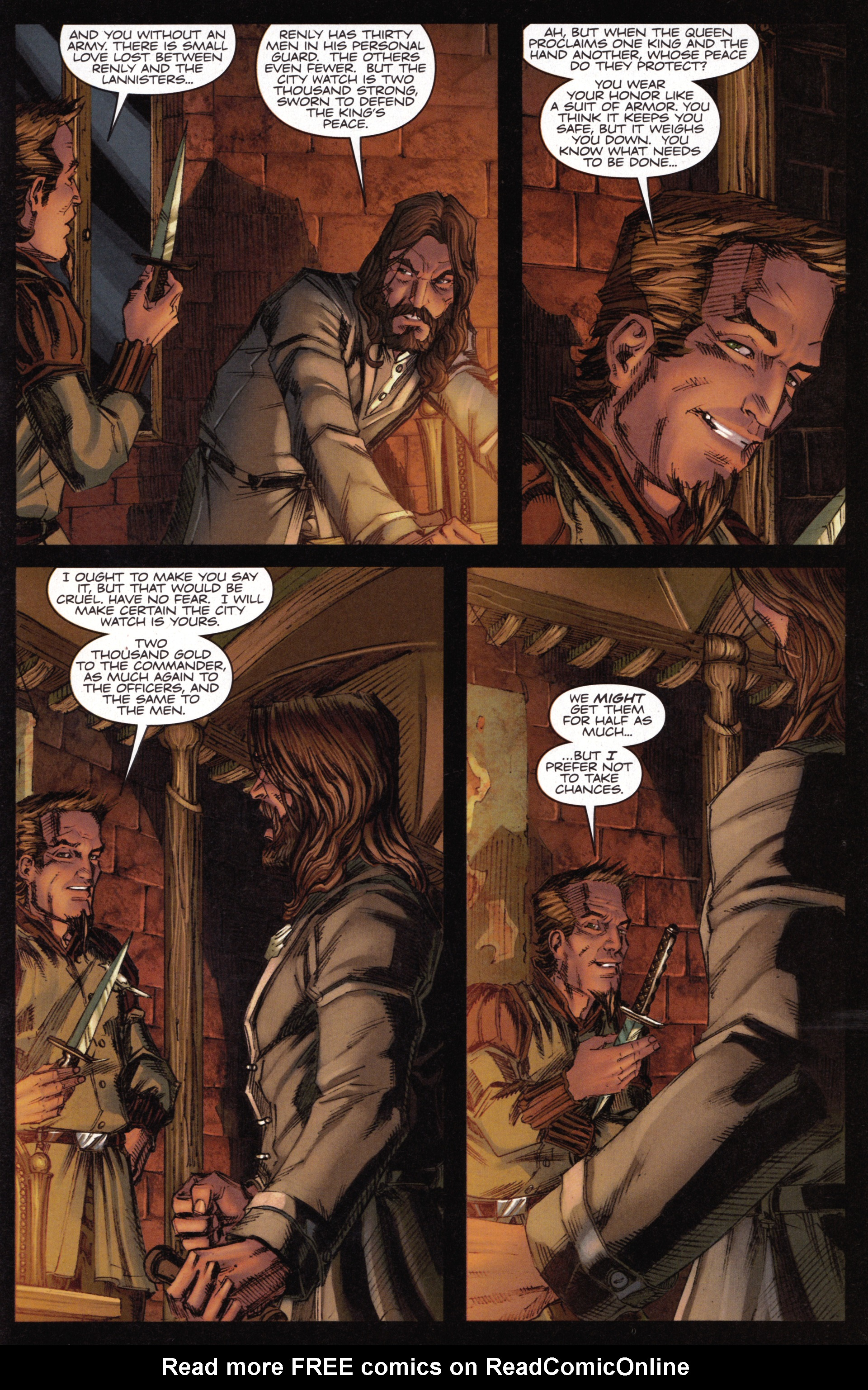 Read online A Game Of Thrones comic -  Issue #15 - 21
