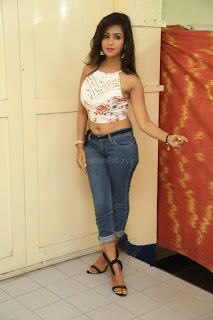 Deekshita Parvathi in a short crop top and Denim Jeans Spicy Pics Beautiful Actress Deekshita Parvathi January 2017 CelebxNext (10).JPG