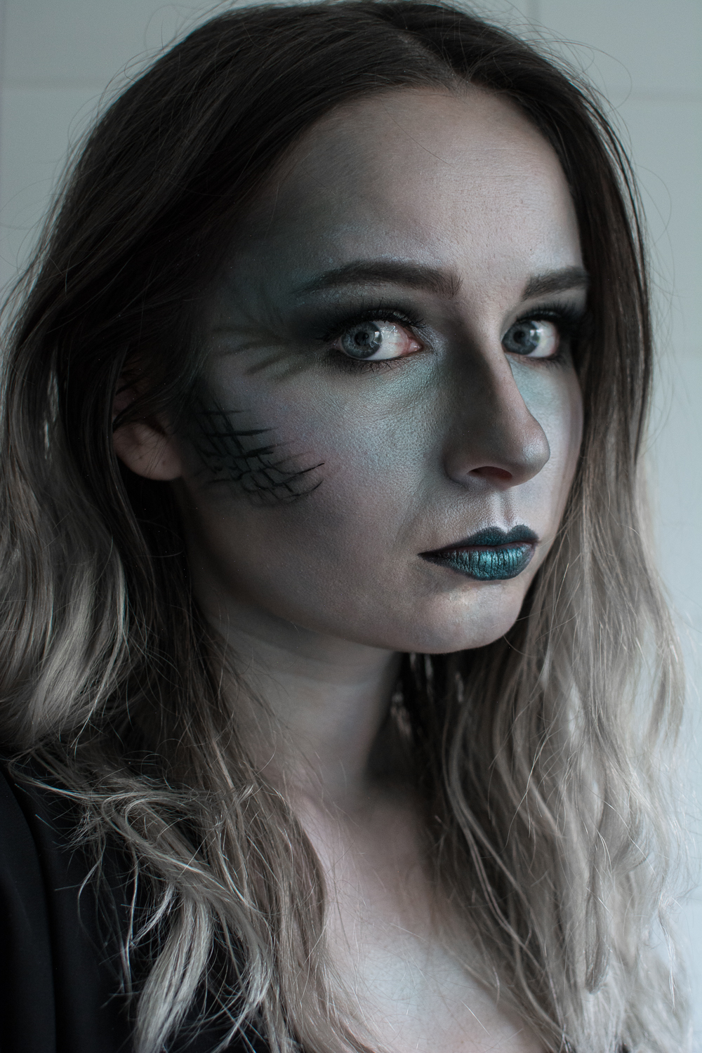 Ghost Evil Mermaid Makeup Halloween Tutorial Video