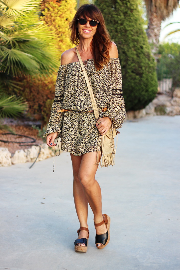 Boho dress - flowers - otoño 2015 - streetstyle - fashion blogger - blogger alicante