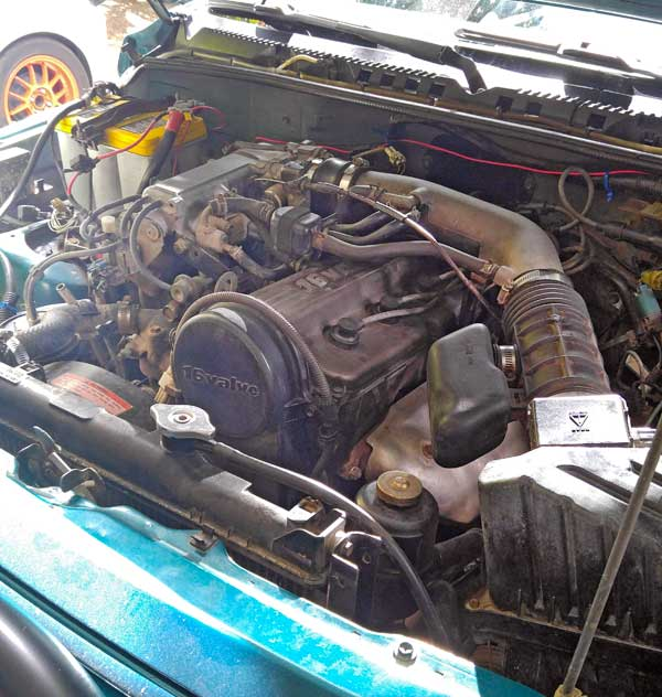 The Teal Terror's Engine Bay