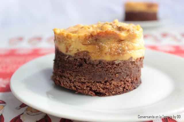 Torta de chocolate con quesillo de calabaza (auyama)