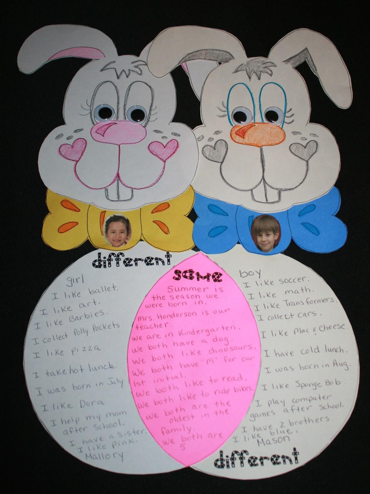 venn diagram bulletin board dot for nickel classroom freebies bunny friends