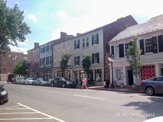 48 No Interstate back roads cross country coast-to-coast road trip historic Fredericskburg Virginia