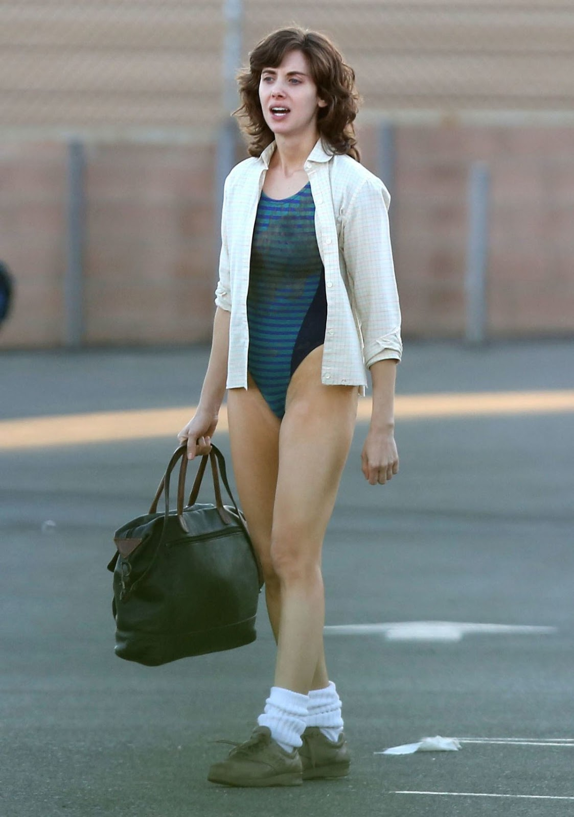 Alison Brie On the Set Of 'G.L.O.W.'