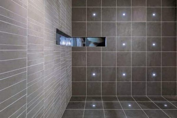 Creative led bathroom tile ideas led tiles technology for The ingenious ideas for bathroom flooring