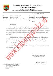 Contoh Proposal Pertanian Pengajuan Bantuan Hand Traktor Dokumen Doc dan Pdf