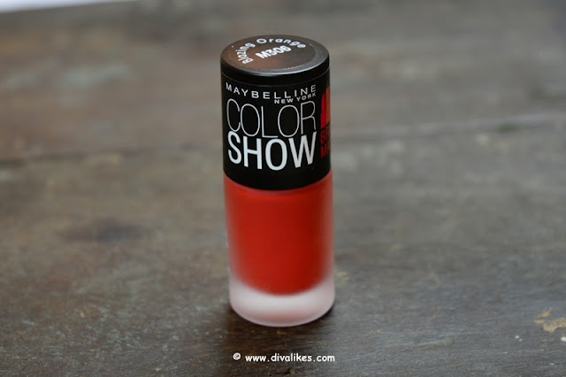 Maybelline New York Color Show Bright Matte Nail Polish Blazing Orange