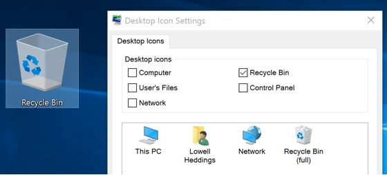 Cara Menampilkan Shortcut / Icon di Desktop Windows 10