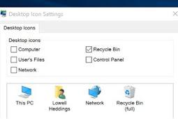 Cara Menampilkan Shortcut / Icon di Desktop Windows 10