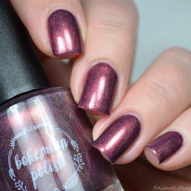 deep red holo nail polish