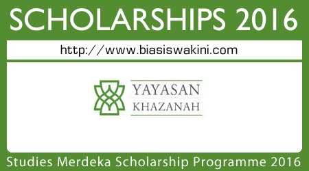 Khazanah Oxford Centre For Islamic Studies Merdeka Scholarship Programme 2016
