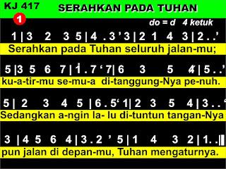 Lirik dan Not Kidung Jemaat 417 Serahkan Pada Tuhan