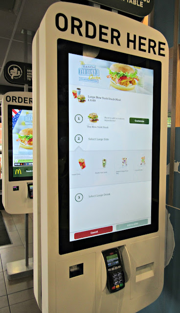 Your New McDonald's self serve kiosks