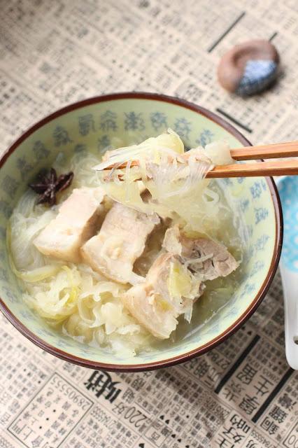 soupe chinoise poorc suan cai