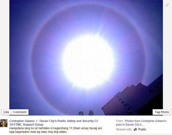 Sun Halo Spotted in Davao