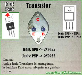 Gambar IC DC dan TR 2N3055