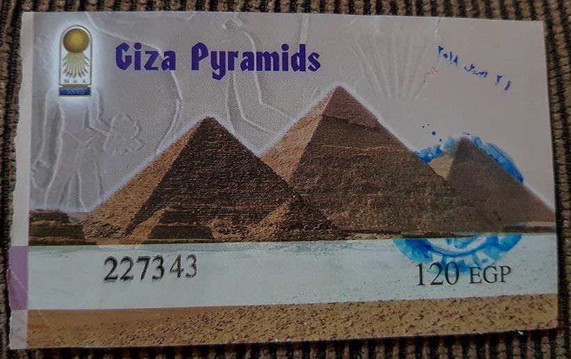 Ingresso para entrar no Complexo de Gizé - Pirâmides do Egito por dentro: saiba como visitar