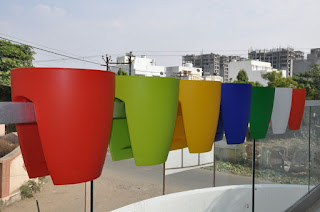 Railing planters Ahmedabad Gujarat India