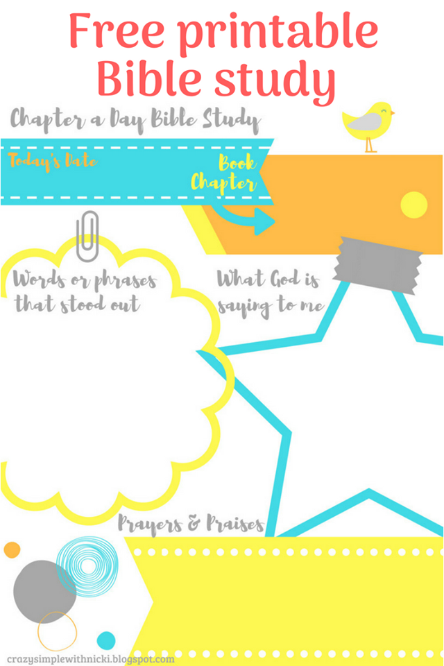 graphic about Printable Bible Study Guides called Nicki Drake - Outrageous Uncomplicated Reality : BIBLE Review FREEBIES