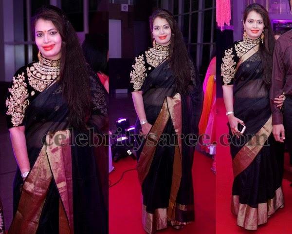 9387d98ed6f160 Black Maharani Work Blouse - Saree Blouse Patterns