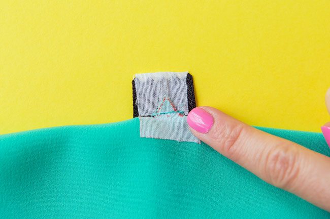 How to sew an exposed zip - Tilly and the Buttons