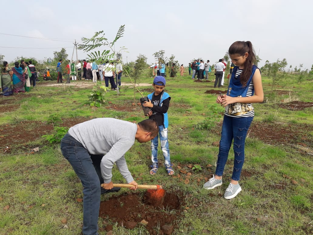 हाथीपावा महोत्सव : Haathipawa-jhabua-विभिन्न सामाजिक, धार्मिक संस्थाओं के साथ स्कूली छात्र-छात्राओं ने लगाए पौधे