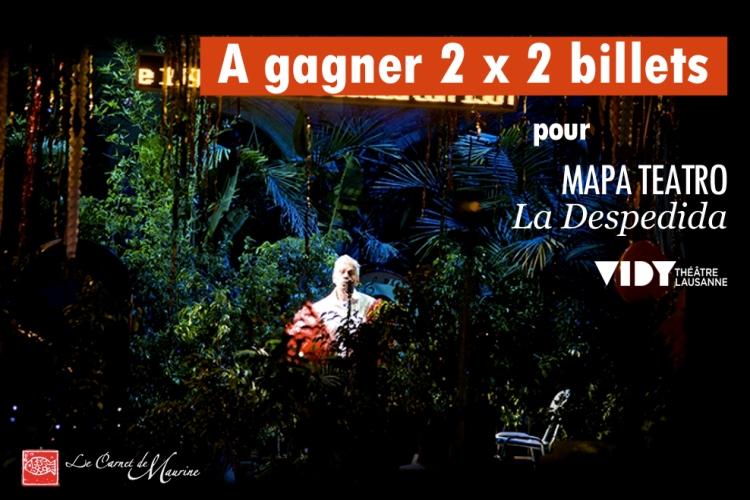 """Jeu concours - spectacle """"La Despedida"""" au théâtre de Vidy"""