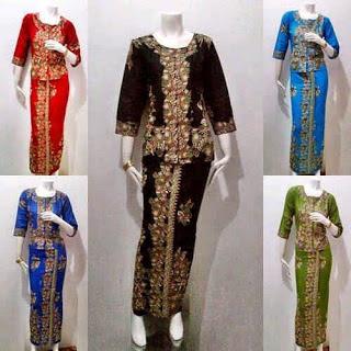 Baju Batik Kantor Seragam Wanita Elegan Modern