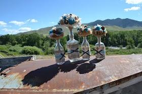 Rustic burlap and lace wedding bouquets by GypsyFarmGirl