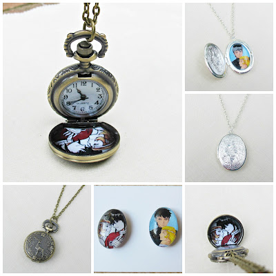 image custom order by two cheeky monkeys voltron fan art keith and allura pocketwatch necklace locket necklace bronze silver domum vindemia magnet set