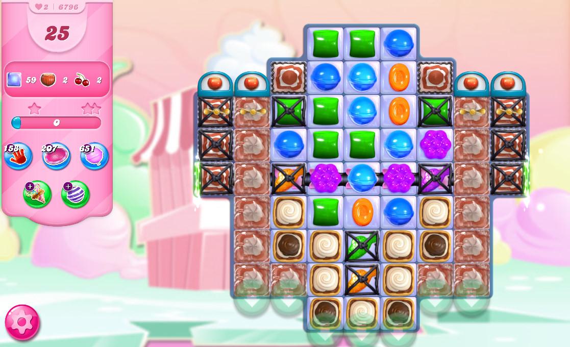 Candy Crush Saga level 6796