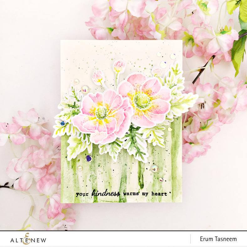 Altenew Build-A-Flower: Anemone Coronaria | Erum Tasneem | @pr0digy0