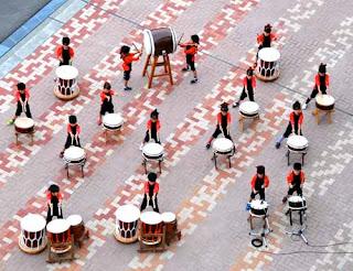 Japanese Children Drumming Aomori Japan
