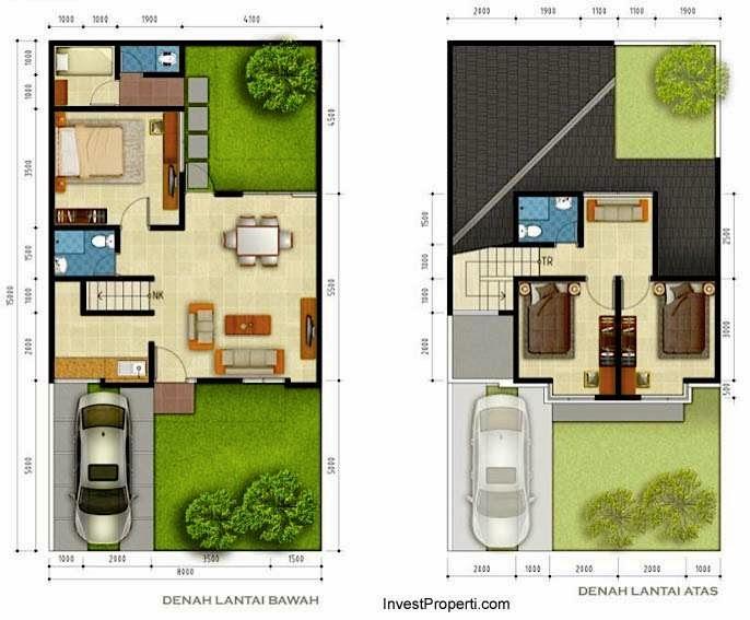 Denah Rumah Minimalis Modern Tropical 2014