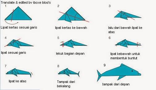 Cara Membuat Ikan Lumba Lumba Dari KertasOrigami  IBoxe