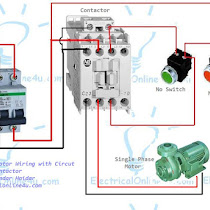 single%2Bphase%2Bmotor%2Bwiring%2Bwith%2Bcontactor%2Band%2Bcircuit%2Bbreaker 3 phase contactor wiring diagram three phase wiring \u2022 wiring single phase reversing contactor diagram at metegol.co