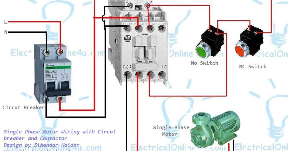 single pole lighting contactor rh freewalker info AC Contactor Wiring Diagram HVAC Contactor Wiring