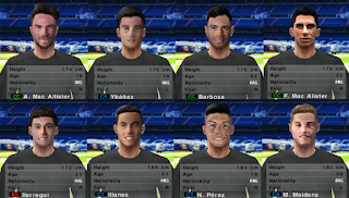 PES 6 Facepack Liga Argentinos Juniors 2018/2019 by Cuervo96