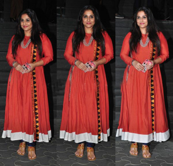 Vidya Balan in Natasha J Anarkali Suit attended the Screening of Dangal Movie