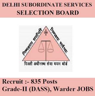Delhi Subordinate Services Selection Board, DSSSB, Govt.of NCT of Delhi, Delhi, Warder, 12th, freejobalert, Sarkari Naukri, Latest Jobs, Hot Jobs, dsssb logo