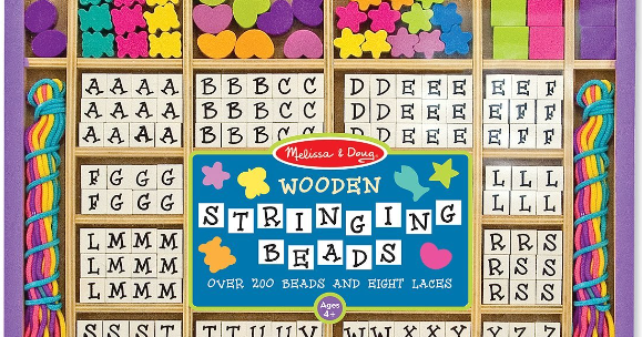 The Playful Otter Melissa Doug Wooden Stringing Beads